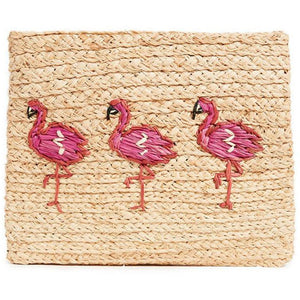 Whimsical Clutch Flamingos