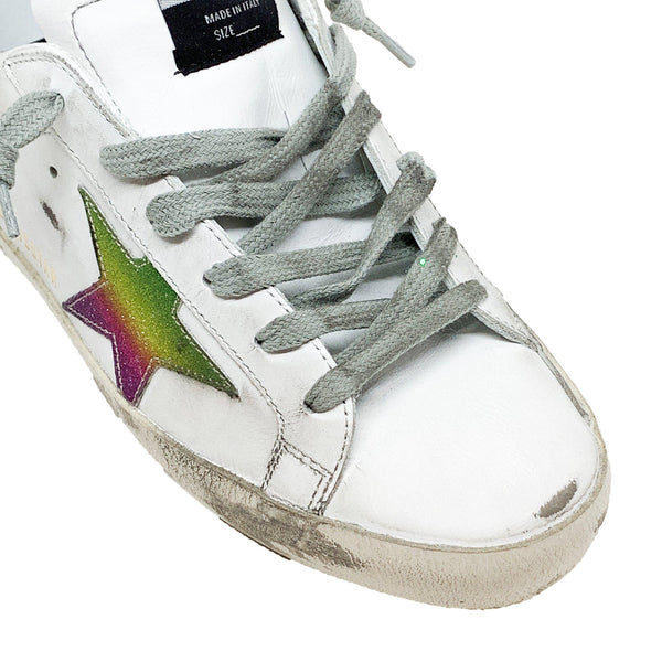 Superstar White Leather Green Sneaker