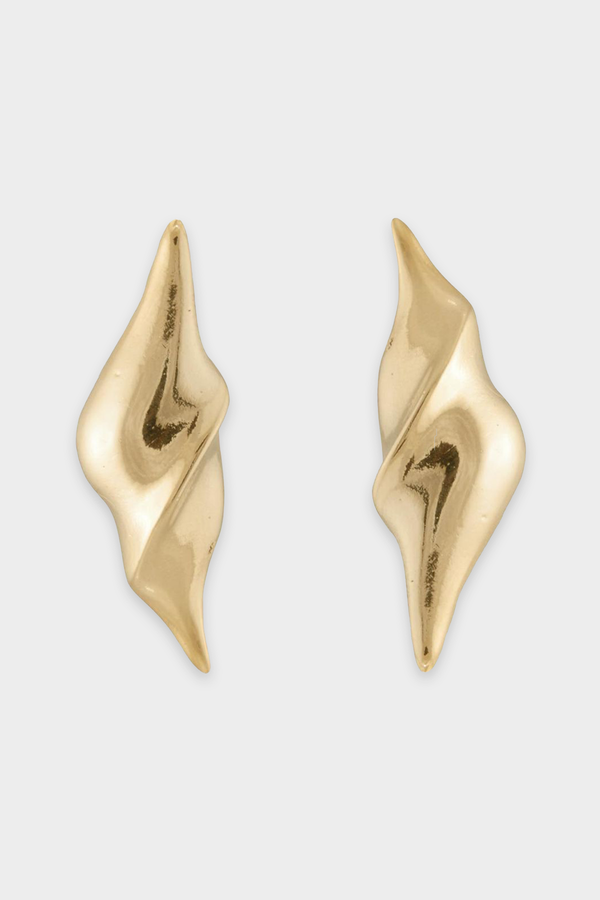Twist Stud Earrings in Gold