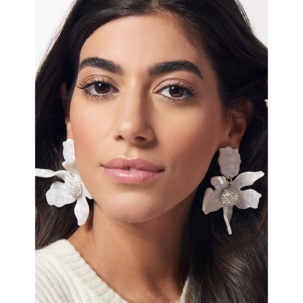 ACCESSORIES - Crystal Lily Earrings Mother Of Pearl