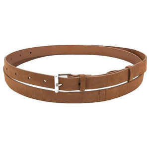 ACCESSORIES - Double Wrap Belt Cognac