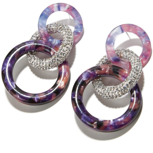 ACCESSORIES - Enchanted Hoop Earrings Purple Magic