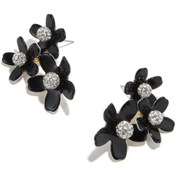 ACCESSORIES - Garden Bouquet Button Earrings Jet