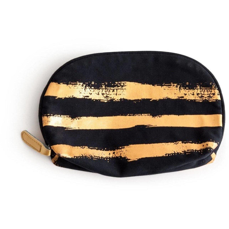 Gold Brush Stroke Cosmetic Bag - shop-olivia.com