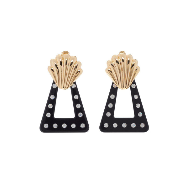 ACCESSORIES - Helene Gold Plated And Black Crystal