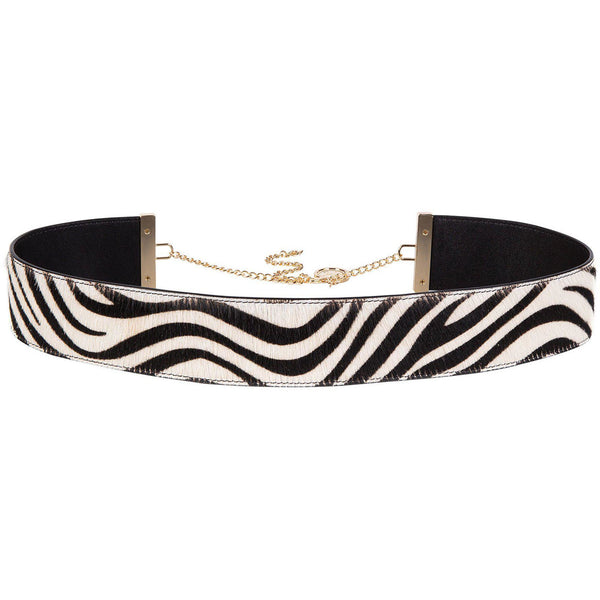 ACCESSORIES - Lizzie Belt Zebra