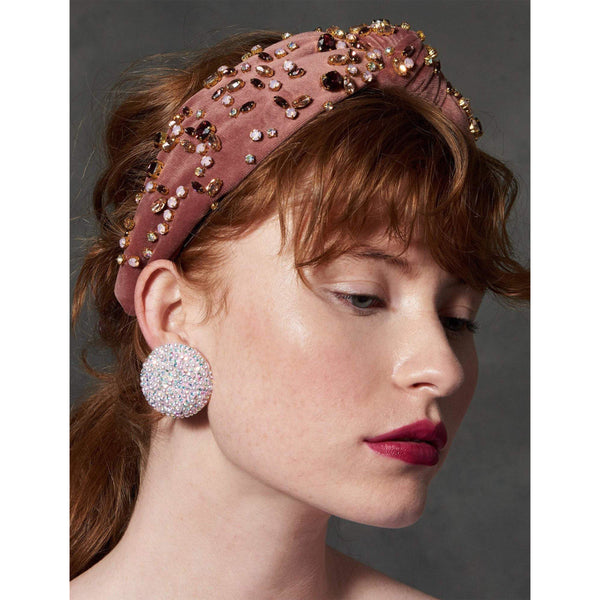 ACCESSORIES - Mixed Shape Crystal Headband Mauve Multi