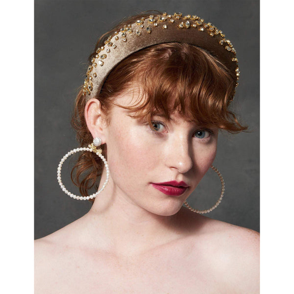 ACCESSORIES - Mixed Shape Padded Headband Dusty Blonde