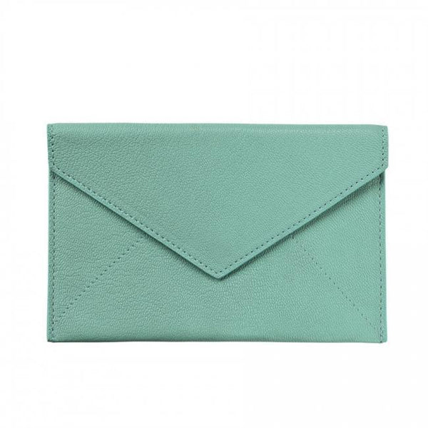 ACCESSORIES - Robin's Egg Blue Goatskin Envelope