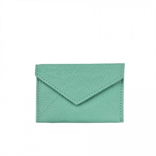ACCESSORIES - Robin's Egg Blue Goatskin Mini Envelope