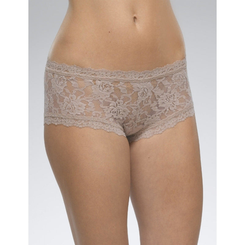 ACCESSORIES - Rolled Signature Lace Boyshort Taupe