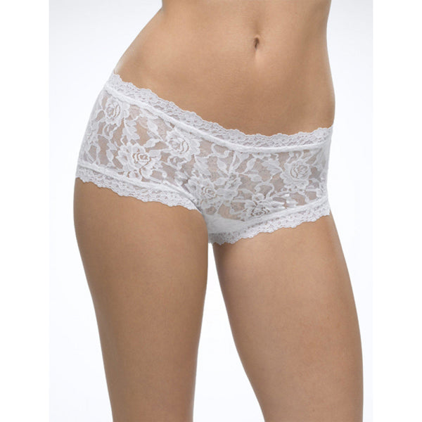 ACCESSORIES - Rolled Signature Lace Boyshort White