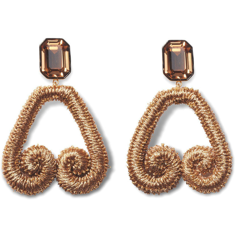 ACCESSORIES - Scroll Earrings In Bronze