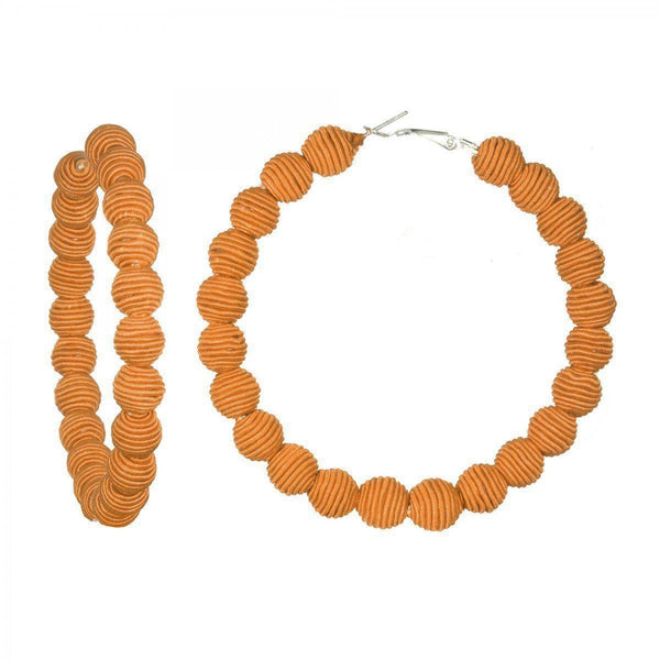 ACCESSORIES - Silk Ibiza Infinty Hoops Earrings Marigold