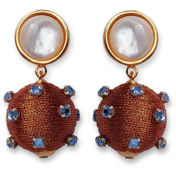 ACCESSORIES - Sparkler Earrings In Amber