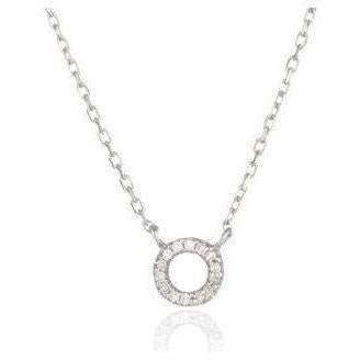 ACCESSORIES - Super Tiny Pave Circle Necklace