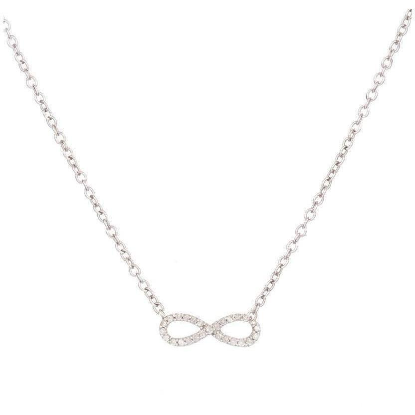 ACCESSORIES - Super Tiny Pave Infinity Necklace