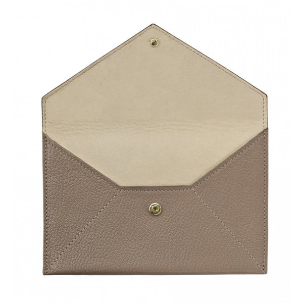 ACCESSORIES - Taupe Goatskin Envelope