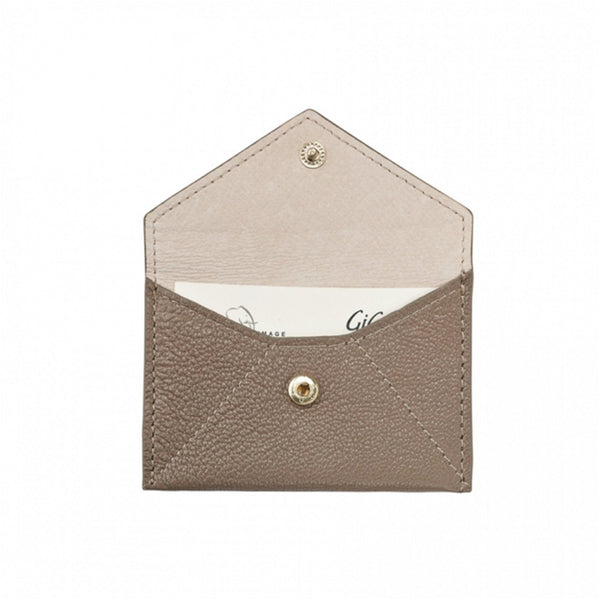 ACCESSORIES - Taupe Goatskin Mini Envelope