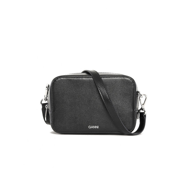 ACCESSORIES - Textured Leather Bag Black