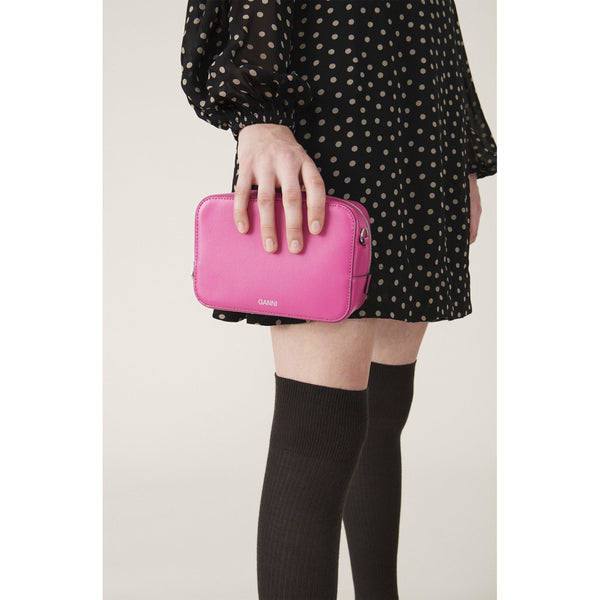 ACCESSORIES - Textured Leather Bag Shocking Pink