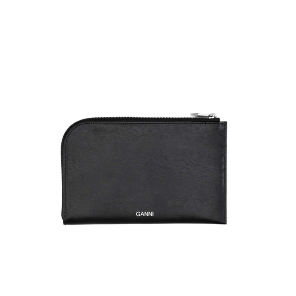 ACCESSORIES - Textured Leather Pouch Black