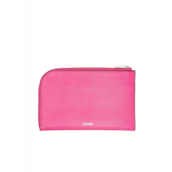 ACCESSORIES - Textured Leather Pouch Shocking Pink