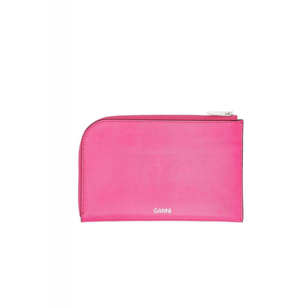 ACCESSORIES - Textured Leather Wallet Shocking Pink