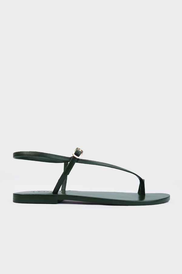 Lily Sandal in Forrest Green