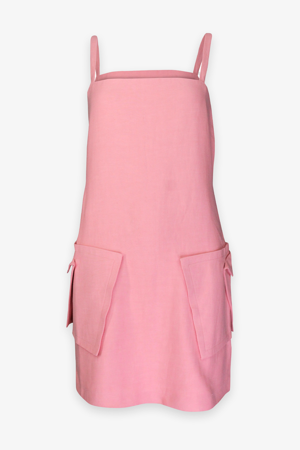 Stephana Mini Dress in Rose Quartz