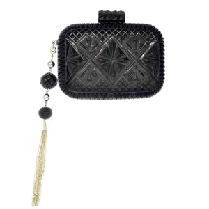 Hand Carved Clutch Black