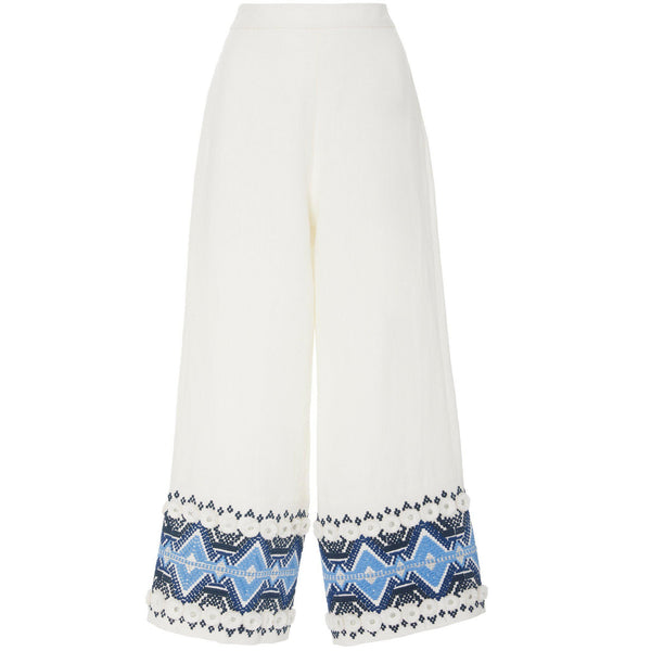 Lowri Pant Embroidery Blue
