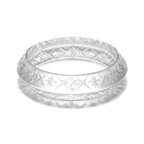 Round Edged Bangle Clear