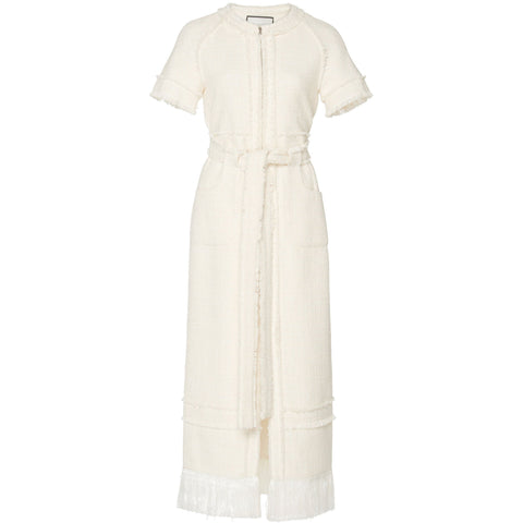 Joancy Zip Up Dress Ivory