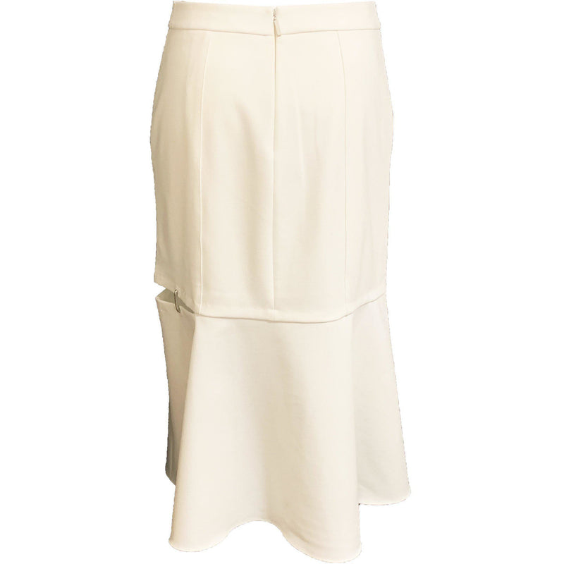 CLOTHING - Anson Stretch Cut Out Skirt Ivory