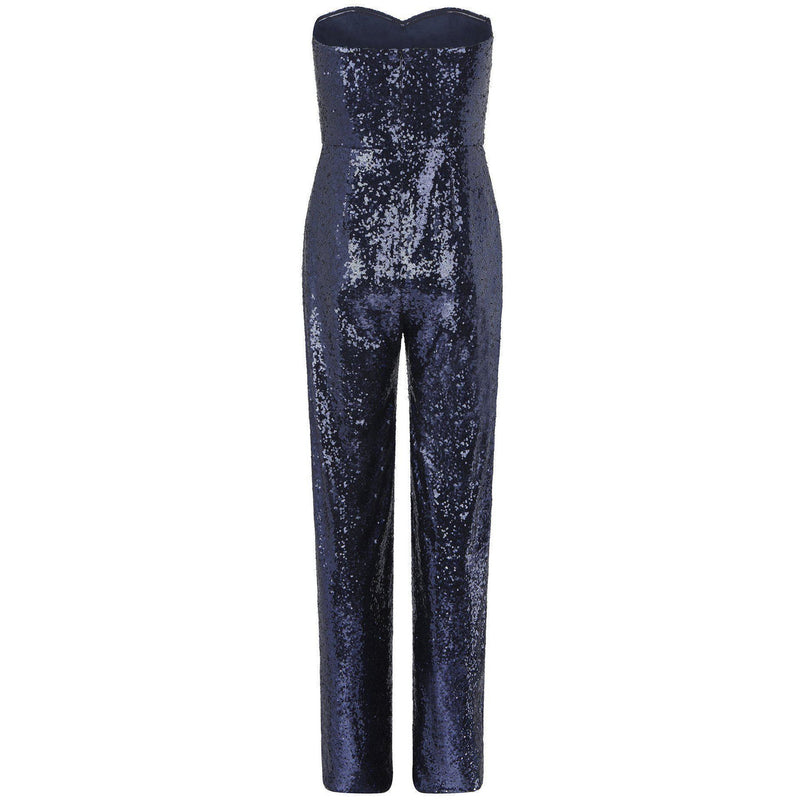 CLOTHING - Aurelie Navy Sequin Jumpsuit