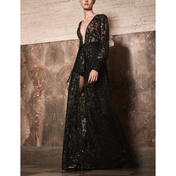 CLOTHING - Biata Dress Beaded Black