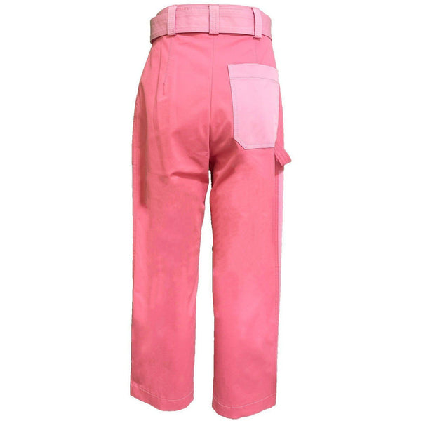 CLOTHING - Color Block Pink Trouser
