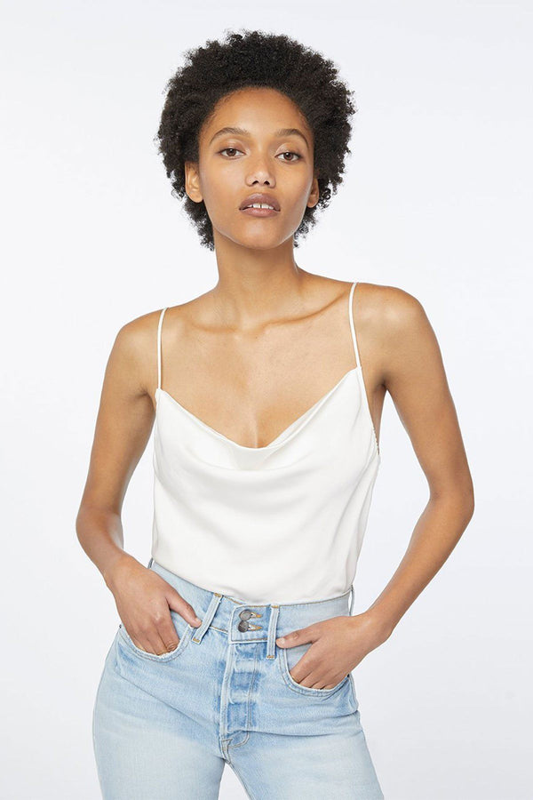 CLOTHING - Cowl Cami Off White