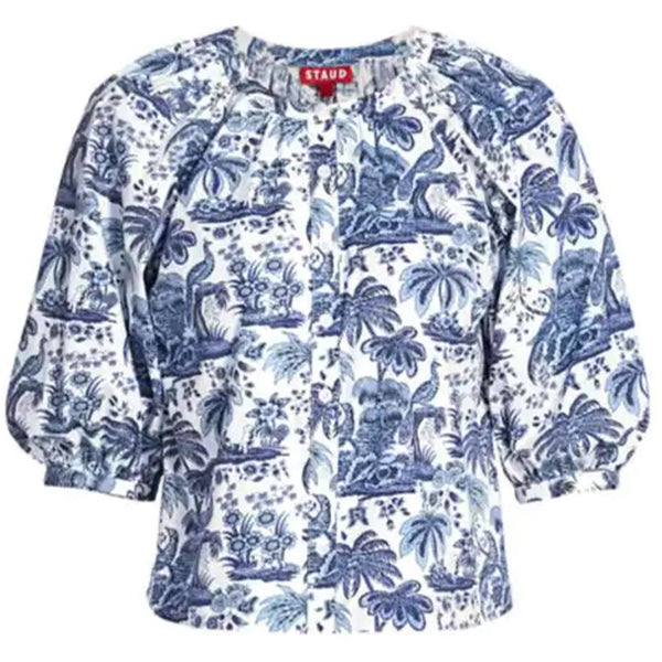 CLOTHING - Dill Top China Blue Toile