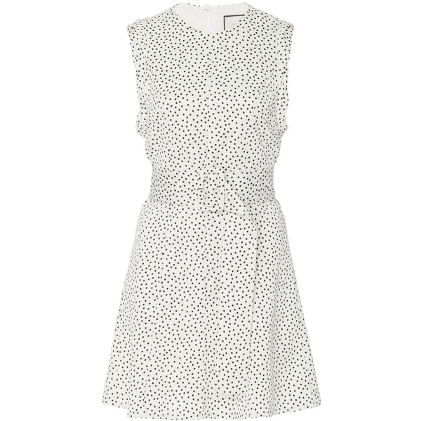CLOTHING - Dutsa Dress White And Black Dot