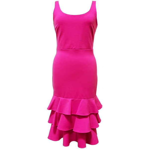 CLOTHING - Eloise Dress Hot Pink