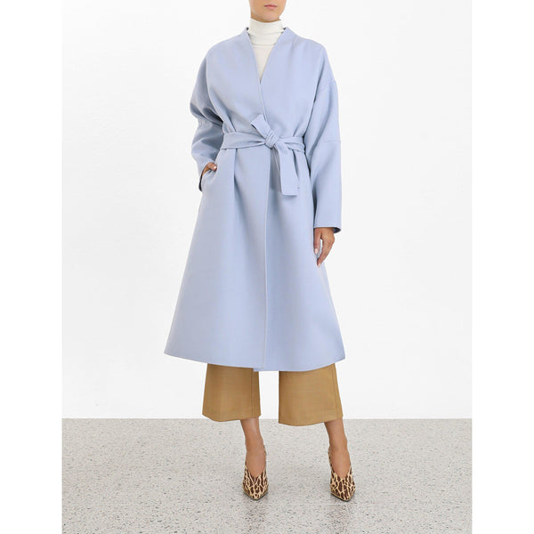 CLOTHING - Espionage Wrap Coat Blue