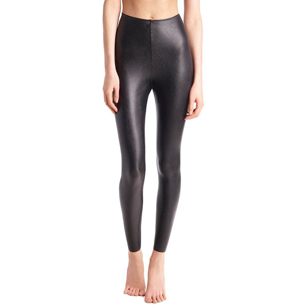 CLOTHING - Faux Leather Legging With Perfect Control Black