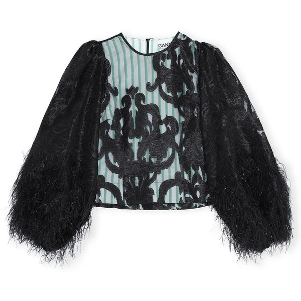 CLOTHING - Feather Cotton Blouse Black