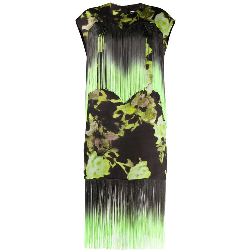 CLOTHING - Floral Fringe Midi Dress Green