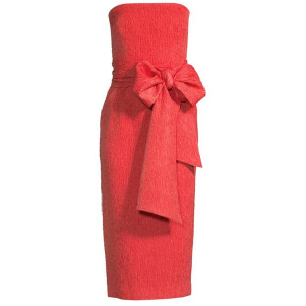 CLOTHING - Francesca Tie Midi Dress Coral
