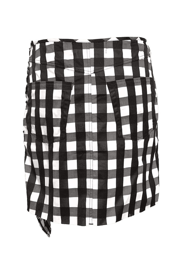CLOTHING - Gathered Mini Skirt Black And White