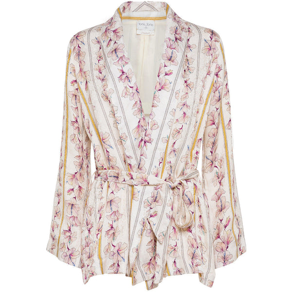"CLOTHING - ""Guadaloupe"" Print Fluid Belted Jacket Cipria"