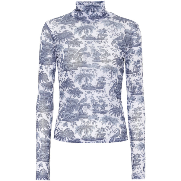 CLOTHING - Helvin Top China Blue Toile